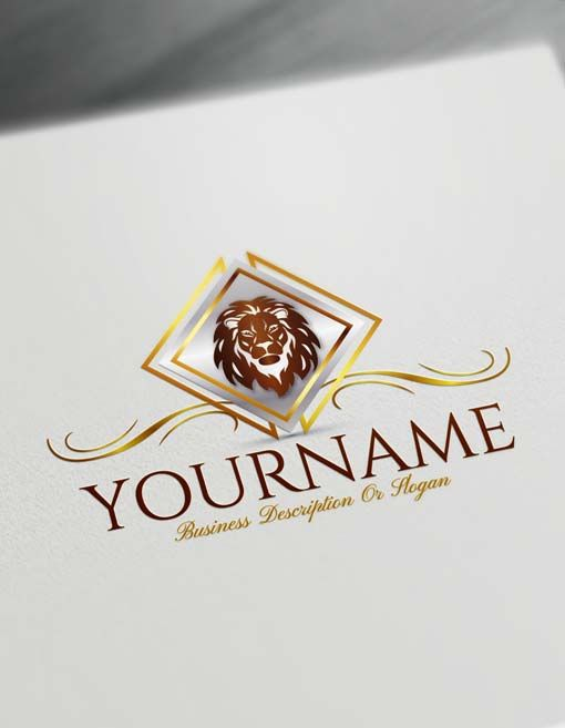 Build Your Own Lion Logo Free Lion Logo Creator Business Logo Design Logo Design Free Pet Logo Design