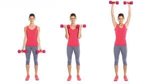 biceps curl with shoulder press