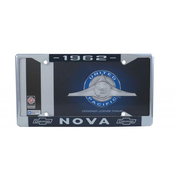 1962 Chevy Nova License Plate Frame