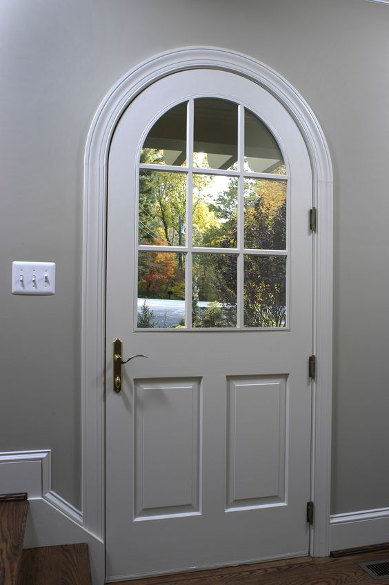 Arched Foyer Window : Side entry foyer door stairs hallway windows arched