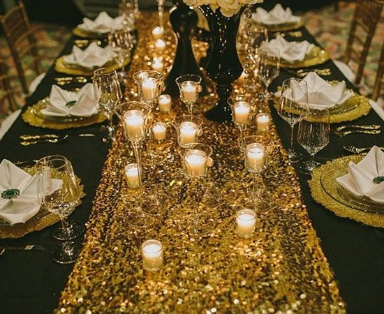 BLING Party Decorations and Tableware for 30th Birthday in BLACK /& SILVER Glitz Table Cover