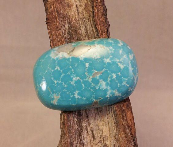 Natural Kingman Birdseye Turquoise Cabochon by txrockhound on Etsy, $40.00