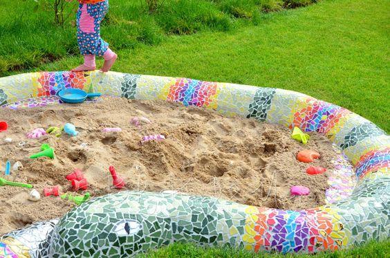 Mosaik Schlange Sandkasten