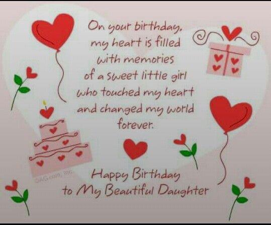 Happy birthday to my beautiful daughter