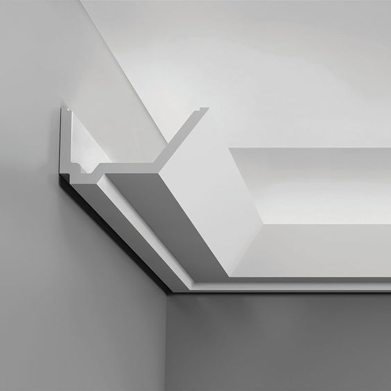 """C358 Crown Molding for Indirect Lighting. Length: 78-3/4"""" ____________________________ Request Your FREE Catalog: http://form.outwater.com/oracusa.php:"""