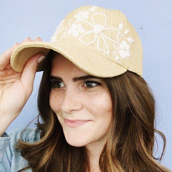 Make a basic baseball hat feel less blah with simple embroidery stitches!