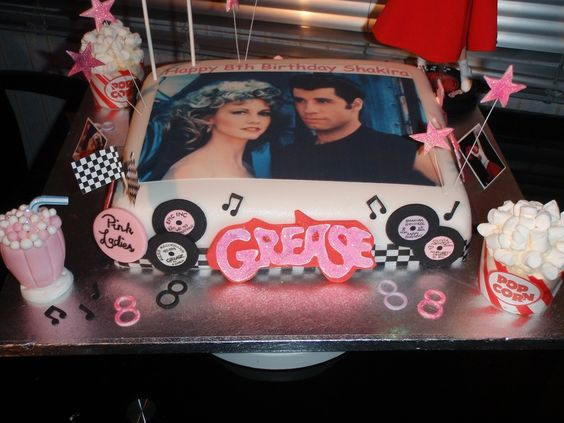 grease party cake - Google Search