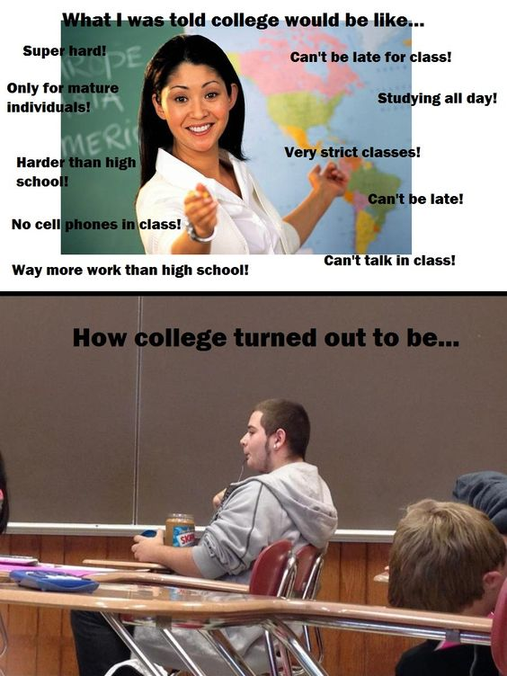 Is College better than High School?