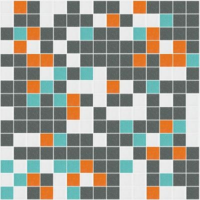 I Love Color Collection: Groove Glass Mosaic Tile Blend, sold by the sheet.