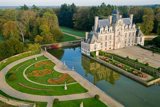 Photo of Beaumesnil Chateau - Park, vegetable garden - Normandy Tourism, France