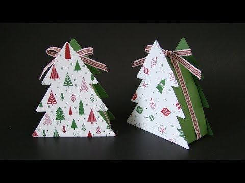 Christmas Tree Boxes Video Tutorial Stampin Up Ornamental Christmas Framelits Iconic Christmas Tr Christmas Tree Box Christmas Tree With Gifts Tree Stamp