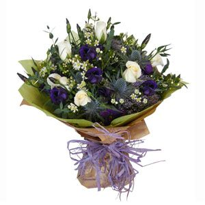 Scottish Flowers Thistles Style Bouquet