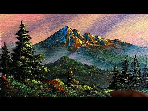 Painting A Beautiful Mountain Landscape With Acrylic Scenery Painting Nature Painting Art C Scenery Paintings Mountain Landscape Painting Nature Paintings