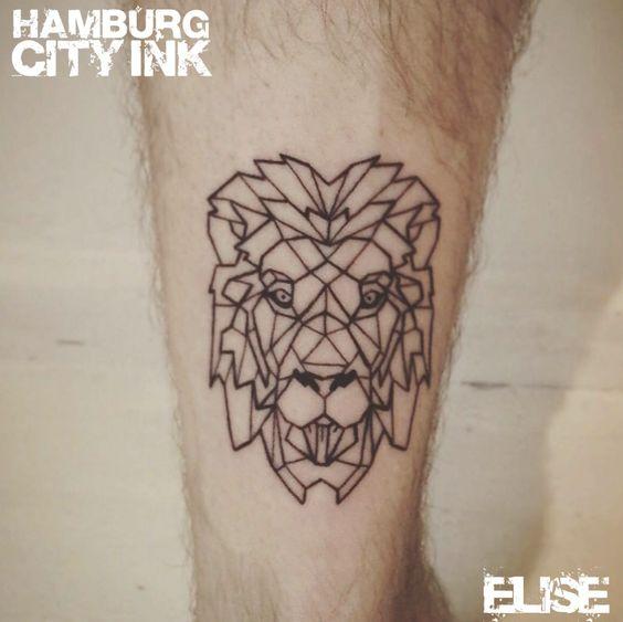 #Tattoo #Blackwork #Minimalistic #Minimaltattoo # Minimalistictattoo #Tatt #Hamburgtattoo #Tattooist #Tattooartist #Elise #Hamburgcityink #Hamburgcity #HCI #Tattoostudio #HH #Lion #Löwe #Liontattoo #Löwentattoo #Lionhead #Löwenkopf #geometrictattoo #Geometric #Geometricliontattoo