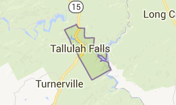 Map of tallulah falls ga