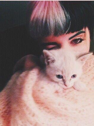 Melanie Martinez with her cat pt. 1
