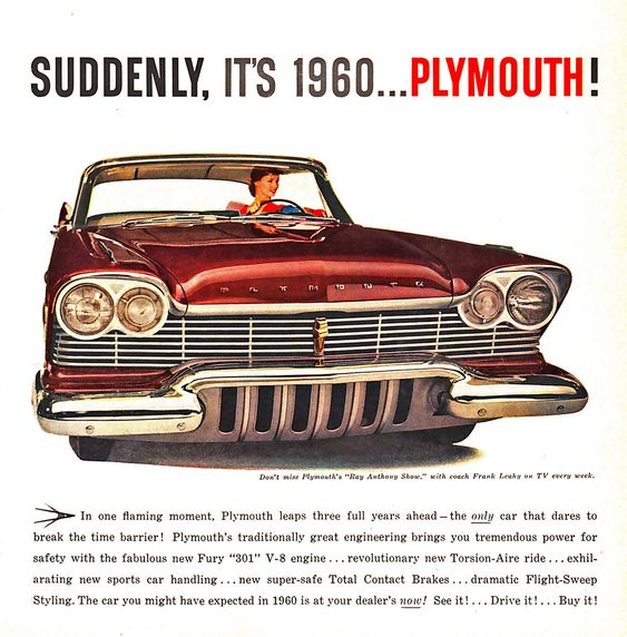 1960 ad for Plymouth