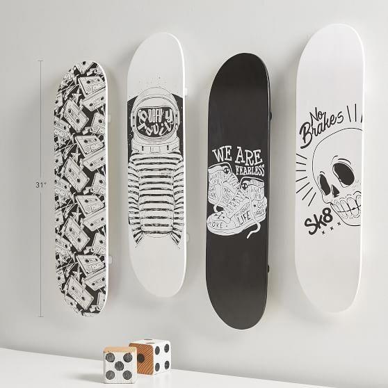 Skate Deck Wall Decor Set Of 4 Pbteen Deckconstruction Skate Decks Diy Deck Skateboard Design
