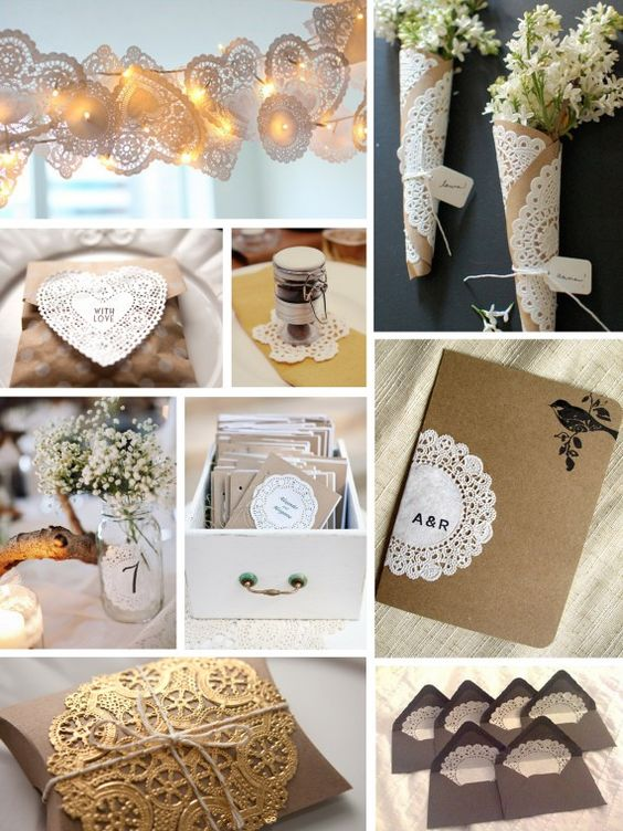 Doilies and kraft paper