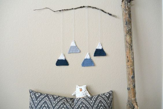 Crochet Mountain Wall Hanging – As Seen In Homespun Magazine |