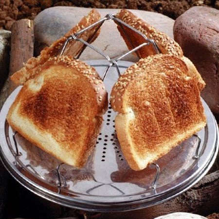 Yes, please. I would like one of these! > Classic Camping Gear: The Pioneer Folding Toaster