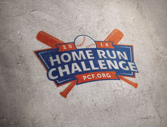 The Official MLB PCF Home Run Challenge Logo for the 2014 campaign, created by Mitten United