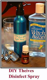 With Love Diy Thieves Disinfect Spray Young Living
