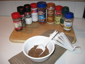 ~ Tammy-time, thoughts, tips, treats and treasures ~: Taco Seasoning - Homemade