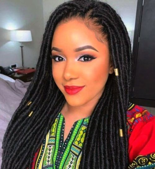 50 Incredible Natural Hairstyles For Black Women Curly Craze Faux Locs Hairstyles Synthetic Dreadlocks Hairstyles Crochet Hair Extensions