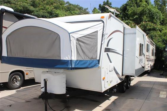 hybrid travel trailers travel trailers and camping world rv sales on pinterest. Black Bedroom Furniture Sets. Home Design Ideas