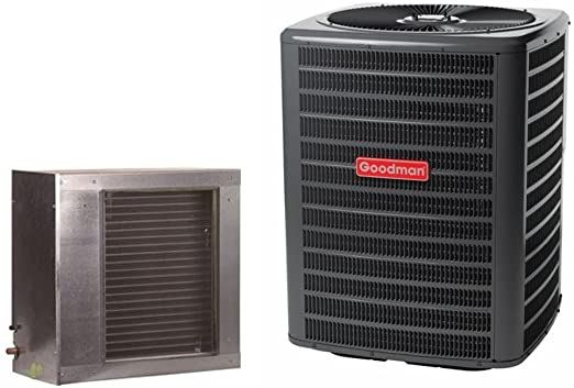 Goodman 2 5 Ton 14 5 Seer Condenser With Horizontal Slab Coil Gsx160301 Cscf3642n6 Txv 30 3 8 X7 8 25 Line In 2020 Superior Homes Wall Air Conditioners Amazon Tools