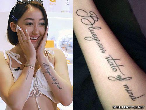 Noah Cyrus Writing Forearm Tattoo Noah Cyrus Front Ankle