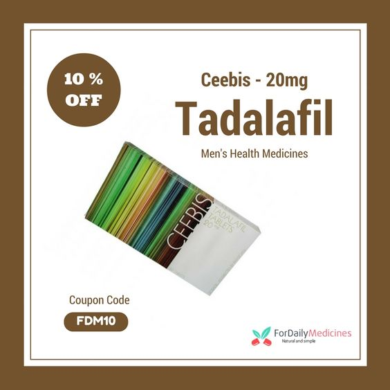#DoublePills Offer on #Menshealth #Medicine #Tadalafil (#Ceebis20mg) online at #FordailyMedicines Use #CouponCode #FDM10 to avail this Offer & any Medicine https://www.fordailymedicine.com/ceebis-20mg.html