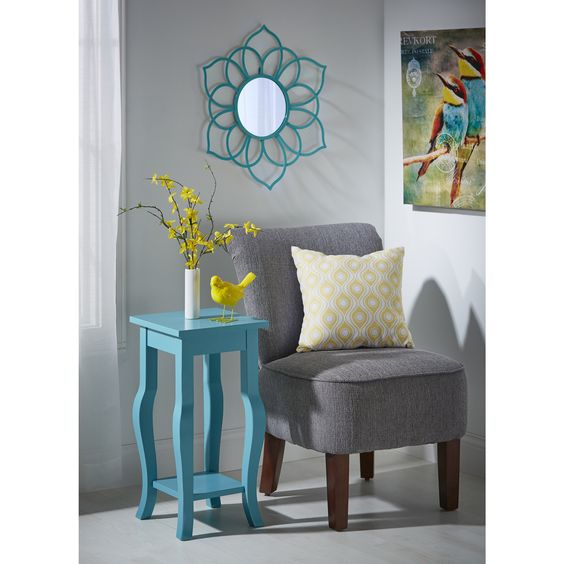 Accentuate any room of your home with this charming Brienne flower mirror.