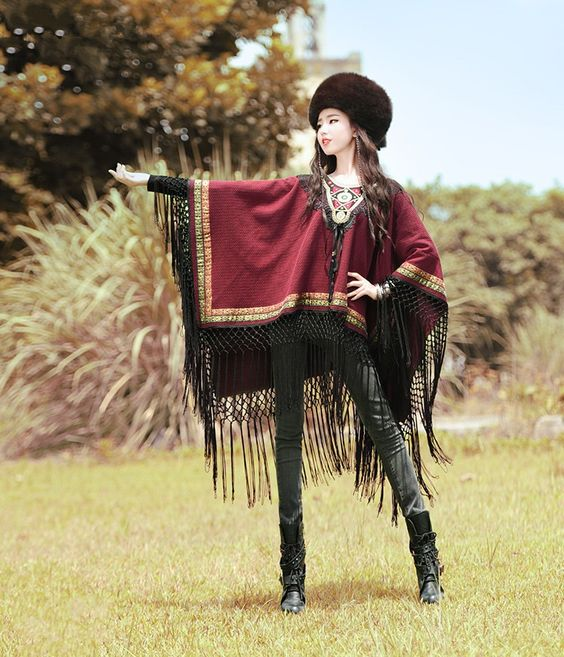 BOHOCHIC Original Picasso Style Ethnic Bohemian Embroidery Ladies Tassel Dolman Women Cotton Coat XB0038Q Boho Chic-in Basic Jackets from Women's Clothing & Accessories on Aliexpress.com | Alibaba Group
