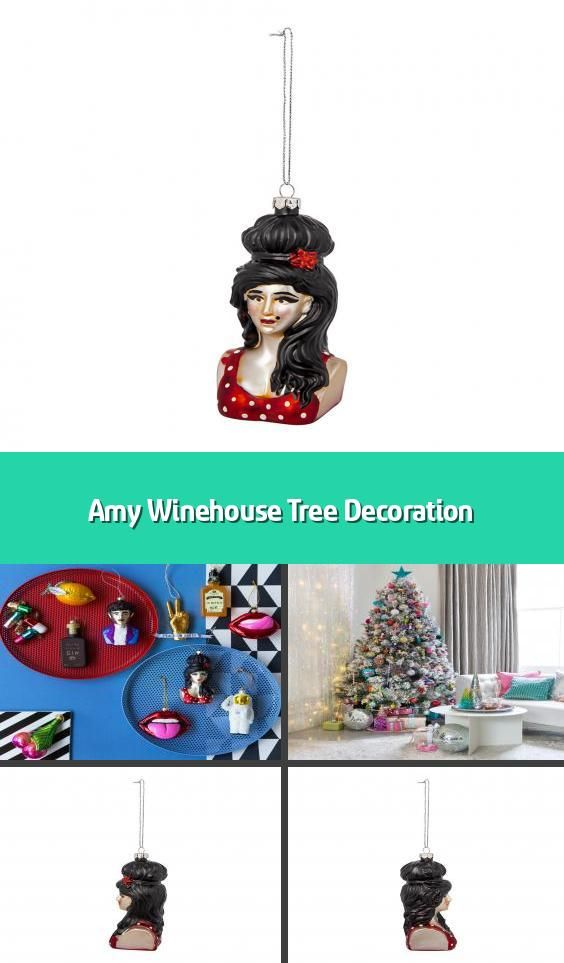 Amy Winehouse Tree Decoration Christmas Tree Decoration Material Glass Dimensions H11 5 In 2020 Tree Decorations Christmas Tree Decorations Christmas Decorations