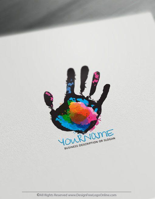 Create Hands Logo For Free Palm Logo Design Template Hand Logo Logo Design Template Logo Design Free