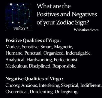Find positives and negatives of your zodiac sign virgo for How do you find your zodiac sign