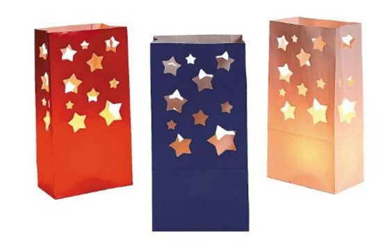 Red White And Blue Star Luminaries
