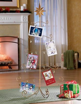 Gold wire, Card holders and Christmas trees on Pinterest