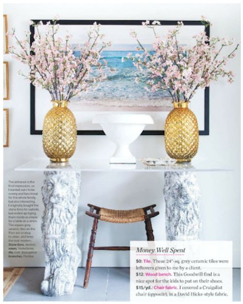 The Peak of Tres Chic: Enticing Entryways
