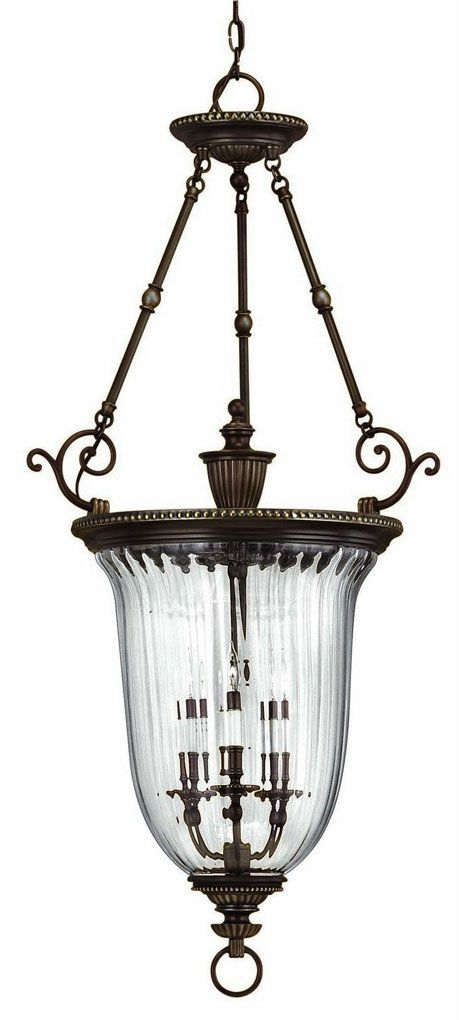 Hinkley 3614OB Oxford Olde Bronze 3 Light Foyer Fixture - HIN-3614OB