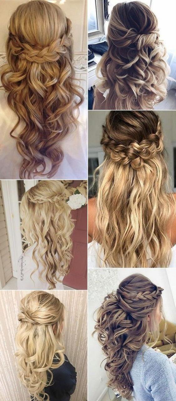 Neu Trend Frisuren 2019 2017 Trending Half Up Half Down Wedding Hairstyles Weddinghairstyles Source By Naoompi3 Hair Styles Wedding Hair Down Short Hair Bride
