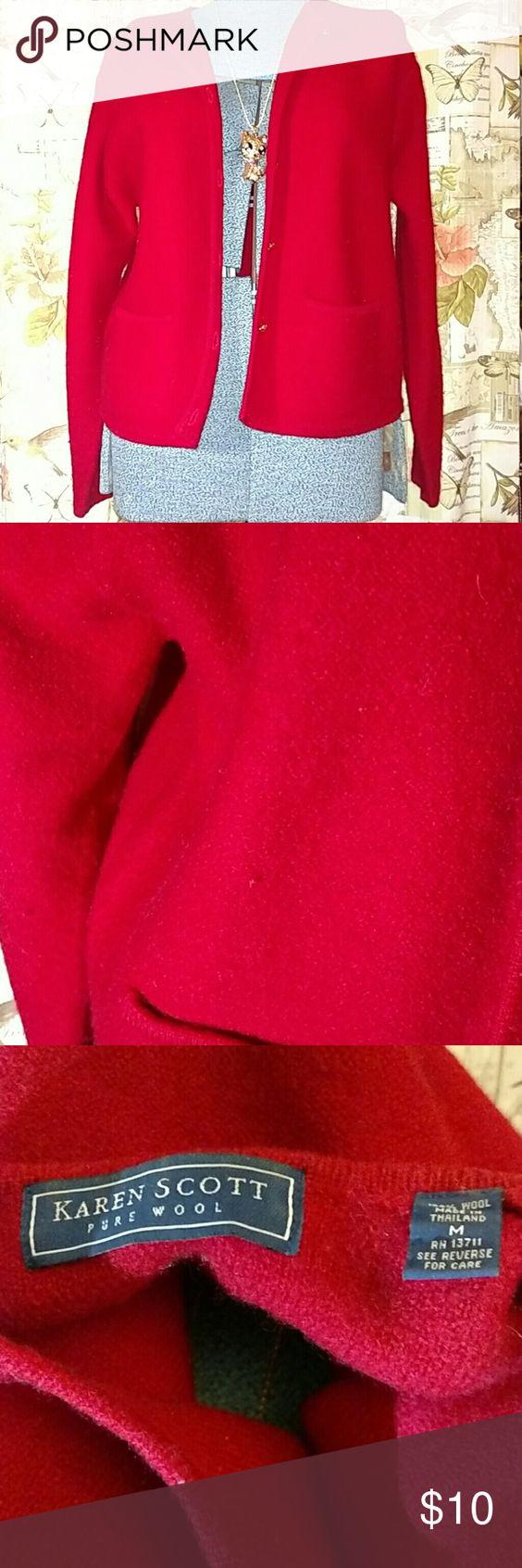 Karen Scott pure wool sweater Typical pilling in wear areas Karen Scott Sweaters Cardigans