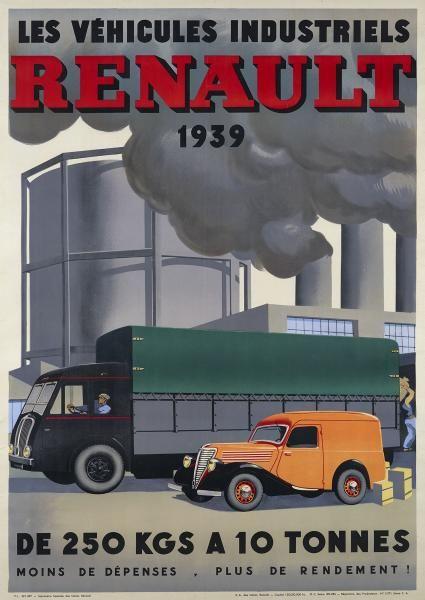 """ANONYME - Les Véhicules Industriels RENAULT 1939 mis en vente lors de la vente """"Automobilia"""" à Artcurial -"""