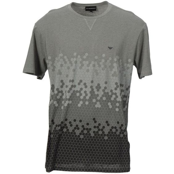 Emporio Armani T-shirt (80 CAD) ❤ liked on Polyvore featuring men's fashion, men's clothing, men's shirts, men's t-shirts, grey and emporio armani