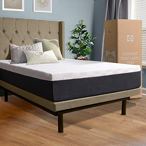Sealy 12 Inch Hybrid Bed In A Box Adaptive Comfort Layers Medium Feel Memory Foam Mattress King White Hybrid Beds Box Bed Adjustable Bed Frame