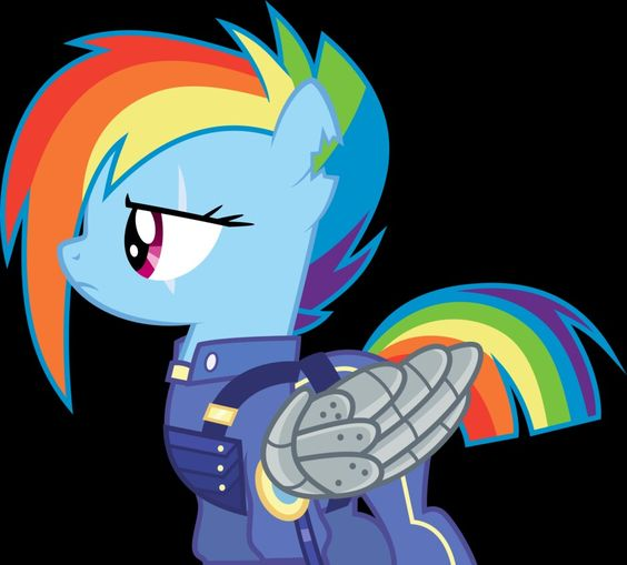 future rainbow dash in the battle of king sombra my