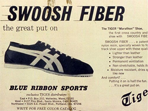 ブルーリボンスポーツ時代のオニツカタイガーの広告