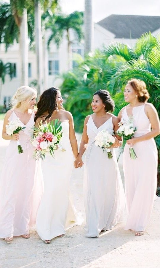 A Tropical Destination Wedding In Montego Bay Jamaica Bridesmaid Dresses Bridesmaid Choosing Bridesmaid Dress